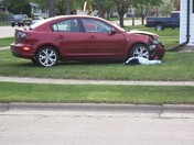 Accident on 17th ave and 85th st Kenosha WI