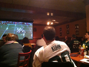enjoying the game @ San Fran Grille