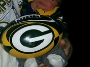 Two week old Packer Fan!! Ready for sum Football!!;)