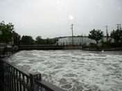 Fox River over flood stage/Waukesha Dam, Friday 9 AM, 7/23/10
