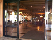 Firefighters secure the lobby of The Abbey Resort (Photo by Dustin Alexander)