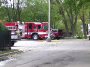 We Energies assists fire department by suspending electric to Bldg. 5 at Abbey R