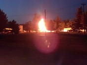 tanker on fire on base