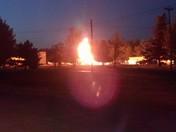 fire on base...tanker truck