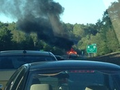 Truck fire on 89N just before exit 18