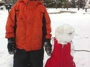 Pint Sized Snowman for a Pint Sized Kid