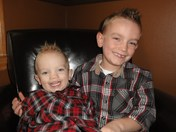 Our 2 Turkeys:) Austin and Liam Happy Turkey Day ! 2012