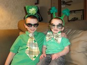 ST. PATTY'S DAY FUN 2013 AUSTIN AND LIAM BROTHERS