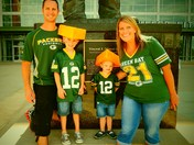 Fager Family Packer Practice fun 8-14-13