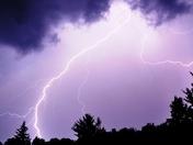 Lightning over Pittsfield, VT
