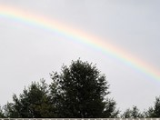 Rainbow this evening over the house