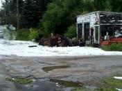 south bangor hail piles