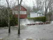 Flooding.Lake Champlain. Plattsburgh.across from Lake Side Apartments,Rt9