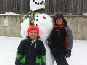 Green Bay Packers snowman