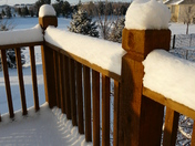 Snow-covered deck, the morning after