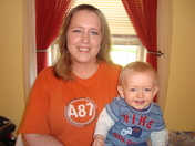 Me and my son Bradley (14 1/2mths old)