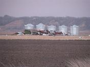 Blown away machine shed