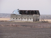 Barn lost west half of roof