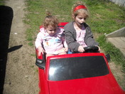 Granddaughters in their car