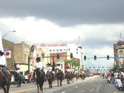 girls at rodeo parade