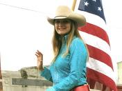girl at rodeo parade