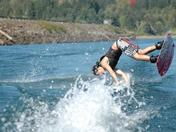 OUCH! My first time trying to wake board!