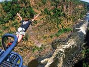Me bungee jumping at Victoria Falls above Zambezi River