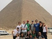 In Egypt with some of my school-mates. I'm in the white tee on the far left sitt