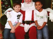 Brandon and BreAnna with Santa