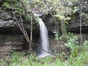Waterfall alongside Dripping Springs Rd.  Carroll County, AR Fri. Oct 9th, 09