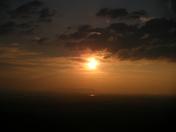 sunset at petit jean