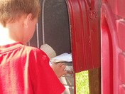 Our 5 Year Old Son Getting Mail