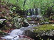 Spring waterfalls in the Ozarks