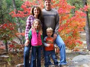 Family enjoying the fall