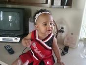 My little Huskerette Addison