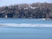 Ice Flow Forming on Beaver Lake Arkansas