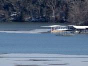Ice Flow Forming on Beaver Lake