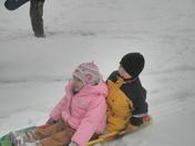 1St time sledding