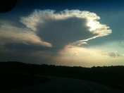 Cool cloud we saw about 530 pm this evening.