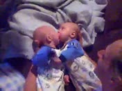my twins think of eachother as food lol