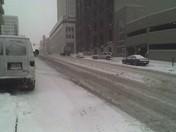 Snow median @ 16th & Farnam