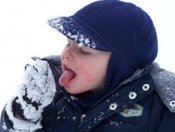 First Snow for baby