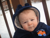 baby's 1st snow!!! (6 months old)