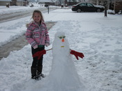 Abbi and Mr. Snowman