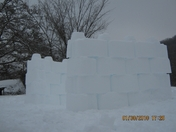 David and Emily's Snow Castle1.JPG