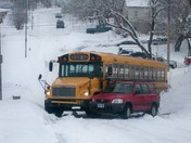 School Bus and Car Collide