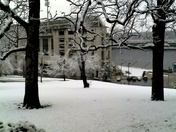Razorback stadium in the snow...