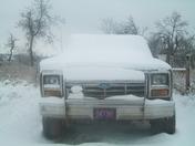 truck in snow