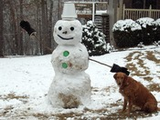 Sadie's First Snowman.JPG