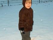 Sam loves the snow!